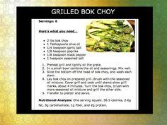 grilled bok choy #recipe  http://www.baltimorefitbodybootcamp.com/