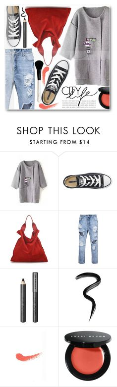 """""""Street Style"""" by stylemoi-offical ❤ liked on Polyvore featuring Converse, Jil Sander, Burberry, Laura Mercier, Topshop, Bobbi Brown Cosmetics and stylemoi"""