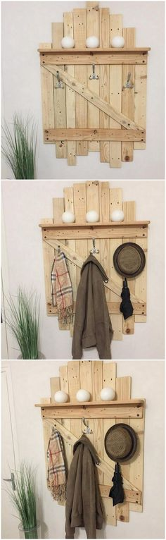 It would give such a nice impression if you would add up your house with the pallet coat rack design of effect. This is quite attractive looking and surely add up your house walls hanging with the coat rack and make it look completely different from others. Try it now!