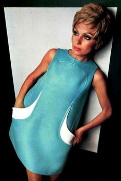 Dress Jean-Marie Armand, 1968.1960s fashion.