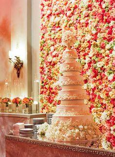 Beautiful flower wall! Todd Events - Photos - Destination Wedding
