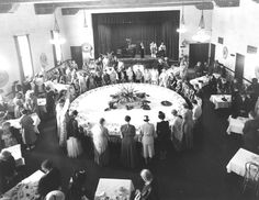 The Thursday Afternoon Club of Tropico luncheon, circa 1916. The club was founded in Tropico January 11, 1906 by local women who wanted to contribute to community life. The ladies established a library, installed drinking fountains and purchased a motion picture projector for use in local schools. Once separate city, Tropico consolidated with Glendale in 1918. Glendale Central Public Library. San Fernando Valley History Digital Library.