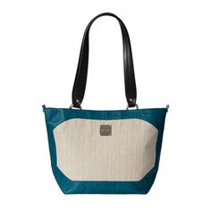 Cream linen-blend with peacock blue faux ostrich trim, sided-rings for attachment of strap and back zippered pocket. Base bag not included. Peacock Blue, Gym Bag, Zipper, Handbags, Pocket, Tote Bag, Cream, Petite Sizes, Shells
