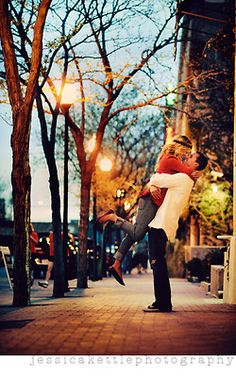 I want to take a picture like this with someone, sometime in the winter. it would be so whimsical