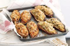 Fennel and cheese stuffed sweet potato Recipe - Taste.com.au Mobile