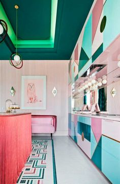 decoracion flecos 2 Green Interior Design, Best Interior, Luxury Interior, Home Interior, Interior Design Kitchen, Home Design, Interior Decorating, Contemporary Interior, Interior Ideas