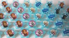 Frozen cupcake rings picks or cake toppers, perfect for Disney birthday party or treat bag favors, movie watching party, snowflake winter