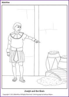 free coloring pictures of joseph in Egypt Old Testament