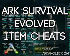 ARK Survival Evolved Cheats for Items - List of All Items 2018 Pink Things pink color id ark Ark Survival Evolved Tips, Game Ark, Minecraft Cheats, Cheating, Pink Things, Pink Color, Gaming, Building Ideas, Funny Videos