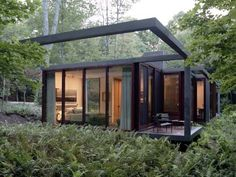 For behind Mama's house. not completely, but I want a bathroom like this, all glass in the middle of the forest.