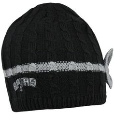adidas San Antonio Spurs Womens Fashion Bow Knit Hat - Black/Silver @Fanatics ® ® #Fanatics WishList