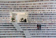 「1,200,000冊」の本がぐるりと並ぶ近未来図書館   TABI LABO