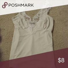 Junior size medium cream colored top Cream colored top junior size medium, fit like a small Tops