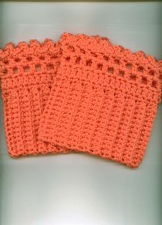 Crocheted Boot Cuffs/Toppers Skate Cuffs/Toppers Ruffle by Kountry, $15.00
