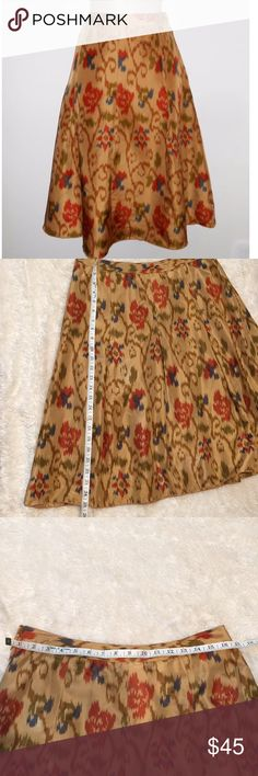 J. Jill silk ikat print skirt.  Size 10 J. Jill ikat silk skirt.  Size 10 Beautifully made in great condition J. Jill Skirts Midi