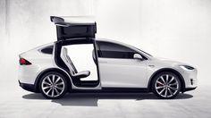 """Tesla X : l'impressionnant SUV doté d'un """"bouton de défense contre les armes chimiques"""" - http://www.leshommesmodernes.com/tesla-x-officiel/"""