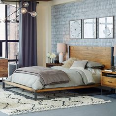 Copenhagen Reclaimed Wood Bed | west elm wish it was available in KING
