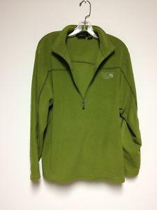 Mountain Hardware Mens Large Green Long Sleeves 1/4 Zip Fleece Sweatshirt | eBay