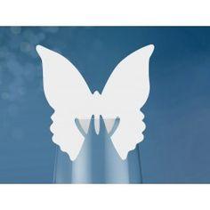 10 marques places en forme de papillon à placer sur le verre