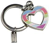 Coach Spring Legacy Stripe Open Heart Key Fob Key Ring Charm Key Chains, Key Rings, Best Sellers, Amazing Women, Charms, Personalized Items, Clothes For Women, Heart, Spring