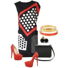 """""""Polka Dot Summer"""" by michelle5064 on Polyvore"""