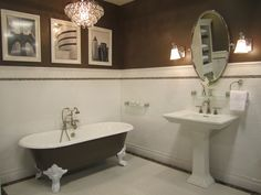 Kirsty Froelich: The Tile Shop - Kirsty Froelich - Ceramic tile bathroom with Cafe Emperador marble accents