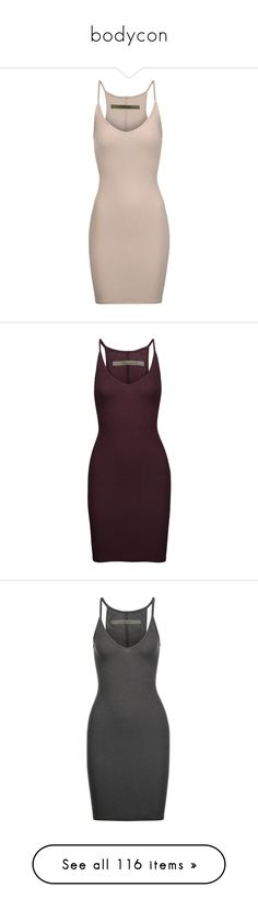 """""""bodycon"""" by the-a-way5 ❤ liked on Polyvore featuring dresses, taupe, feather dress, rib dress, stretch cotton dress, pink dress, pink feather dress, dresses., burgundy and short burgundy dress"""