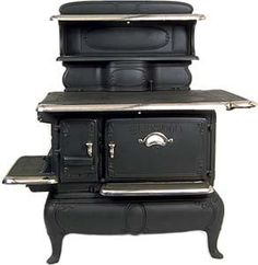 Glenwood Stoves-Antique Country Cook Stove, Early Victorian Kitchen stove