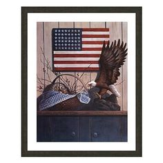 Eagle Basket with Berries Framed Art Print by T.C. Chiu