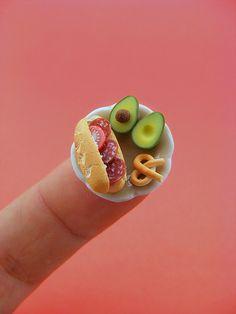 miniature food sculpture by Shay Aaron, via Flickr