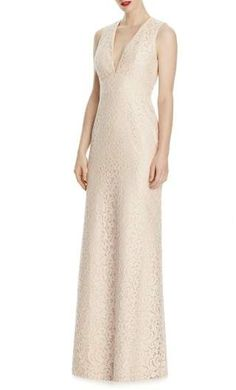 42ebfcc403315 online shopping for Lela Rose Bridesmaid V-Neck Lace A-Line Gown from top  store. See new offer for Lela Rose Bridesmaid V-Neck Lace A-Line Gown