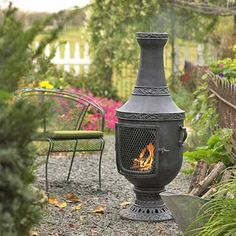 Outdoor Chiminea.  thebluerooster.com  $429.95