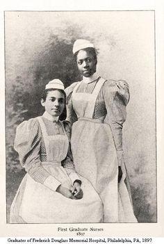 Graduates of Frederick Douglass Memorial Hospital, Philadelphia, PA 1897. Image courtesy of the Barbara Bates Center for the Study of the History of Nursing.
