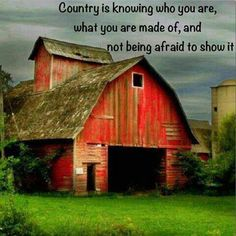 Best barns are big and red.