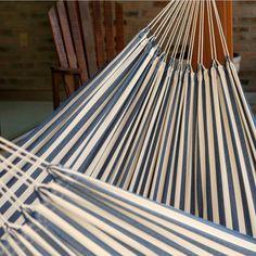 Cotton Hammock Outdoor Swing Brazilian Hammock Chair Hanging Suspended Blue