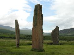 This 5.5m (thats 18feet) tall stone is on Machrie Moor on the isle of Arran in Scotland.