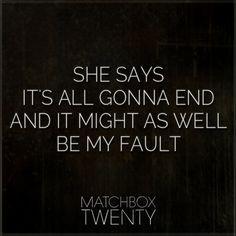 Matchbox Twenty lyrics