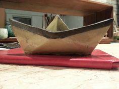 Ceramics origami boat