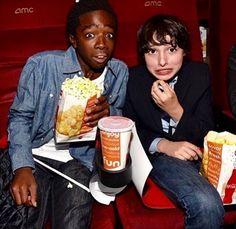 Caleb McLaughlin & Finn Wolfhard at the Shin Godzilla premiere