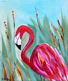'Flamingo'An original ... Original Art, Original Paintings, Modern Impressionism, Irish Art, Acrylic Art, Watercolor Art, Flamingo, Birds, The Originals