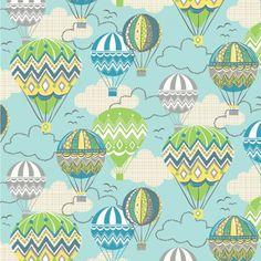 Sew Scrumptious Fabrics - Blend - Blown Away - Balloon Ride (Blue), �3.20 (http://www.sewscrumptious.co.uk/blend-blown-away-balloon-ride-blue/)