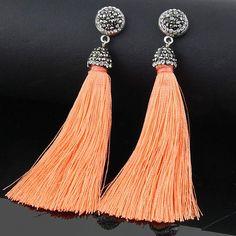 Crystal Silk Fabric Earrings
