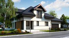 Projekt domu Z284 D GP2 Wersja projektu Z284 D z garażem dwustanowiskowym z prawej strony. Outdoor Decor, Home Decor, Decoration Home, Room Decor, Home Interior Design, Home Decoration, Interior Design