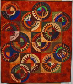 New York Beauty. Pieced and quilted by Jessica Brunnemer -- Dynamic!