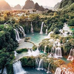 travel and wanderlust inspired and inspiration // South East Asia Travel on Inst… – Travel and Tourism Trends 2019 Beautiful Waterfalls, Beautiful Landscapes, Vacation Places, Dream Vacations, Vietnam Voyage, Visit Vietnam, Hanoi Vietnam, Beautiful Places To Travel, Beautiful Islands