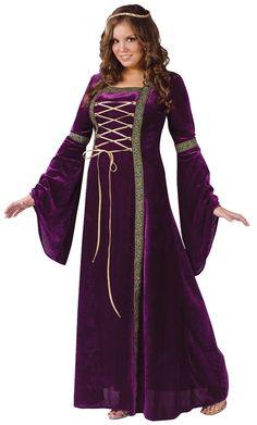 Deluxe Renaissance Lady Plus Size Costume - Adult Costumes