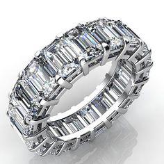 2.5 Carat Emerald Cut Diamond Eternity Band VS2 H Estimate Appraisal Value: $6916.68\t\tMSRP: $3881.03\t\tSale Price: $2910.77