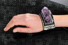 purple crystal cuff
