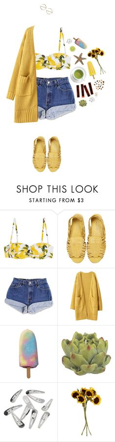 """""""Untitled #1568"""" by dear-scone ❤ liked on Polyvore featuring Dolce&Gabbana, Mimi Loves Jimi, Crate and Barrel, John Lewis and Monki"""
