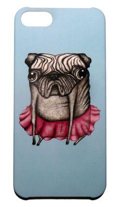 Dog Hund in rosa Kleid. Iphone5 Hard Case Schutz Hülle für iPhone 5. Design aus Schweden by DEDICATD. #iphone5 #dog #pug